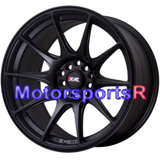 18 18x8.75 18x9.75 XXR 527 Flat Black Staggered Rims Concave 5x100 ET+