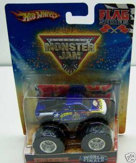 Hot Wheels Monster Jam Truck 20 75 Flag New King Krunch