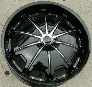 Status Opus 24 Black Rims Wheels Range Rover Sport 24 x 9 0 5H 30