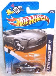 2012 Hot Wheels Aston Martin One 77 Wal Mart Red Lines Exclusive RARE