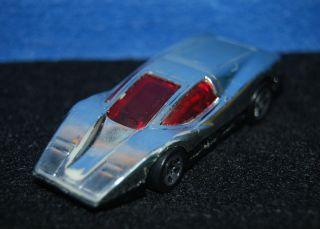 1974 Hot Wheels Diecast Silver Bullet w Red Windows