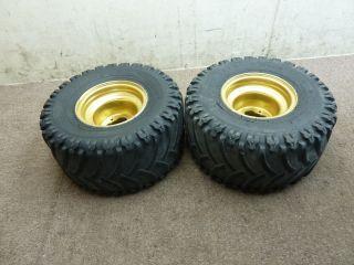 1987 87 Yamaha Warrior 350 Rear Wheels Rims Tires Wheel Set