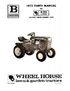 Wheel Horse Tractor Parts Manual B 80 N4 Speed 1 0141