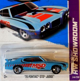 Hot Wheels 2012 70 Pontiac GTO Judge C Case