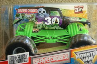 HOT WHEELS MONSTER JAM TRUCK GRAVE DIGGER 30th ANNIVERSARY 1 24 Large