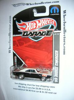 69 Dodge Charger 2011 Garage Hot Wheels Real Riders RARE