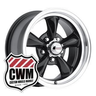 Black Wheels Rims 5x4.75 lug pattern for Chevy Monte Carlo 70 81