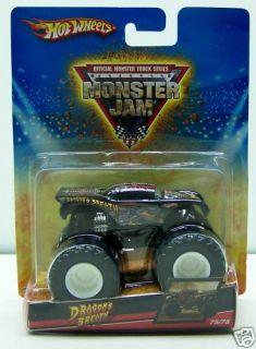 Hot Wheels Dragons Breath Monster Jam Truck 75 75 New