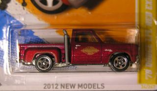 Hot Wheels 2012 #034 70 DODGE LIL RED EXPRESS PICKUP Red New Models