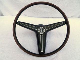 1970 Mustang Rim Blow Steering Wheel RimBlow Restored 70 71 72 73 Boss