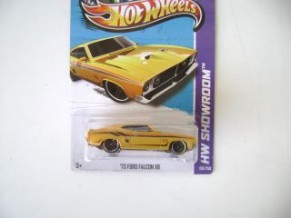 Hot Wheels 2013 Yellow 73 Ford Falcon XB HW Showroom C Case 198 250