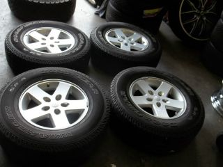 Jeep Wrangler Sahara Tires and Wheels 17 255 75 17 Goodyear