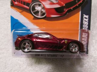 2012 Hot Wheels SUPER TREASURE HUNT Ferrari 599XX Spectraflame Red