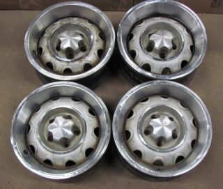 72 73 74 Cuda Challenger 14 Rallye Wheels Rims Set 4