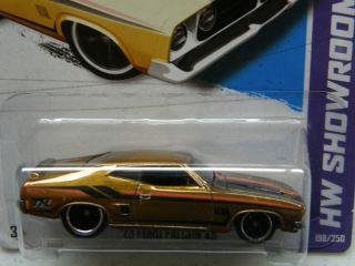 Hot Wheels 2013 Super Treasure Hunt 73 Ford Falcon XB TH RR USA Card