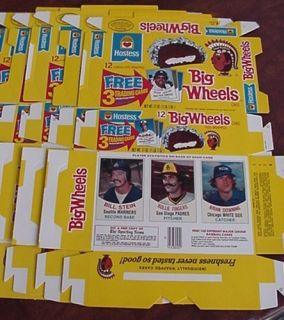 1977 Hostess Big Wheels Complete Unused Boxes Cards Fingers Tenace