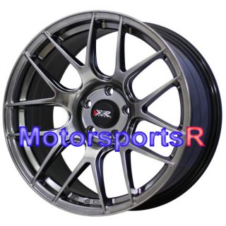 18 18x8 75 XXR 530 Chromium Black Concave Wheels Rims 08 Acura TL Type