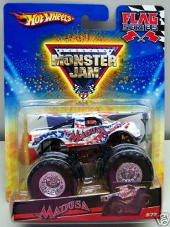 Hot Wheels Madusa Monster Jam Truck 5 75 Flag Series