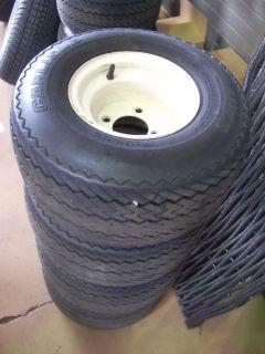Golf Cart Tires and Rims 8 Used 80 Tread Still