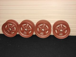 70 Pontiac Firebird Trans Am 15x7 Rally II JW Dated Matched Wheels