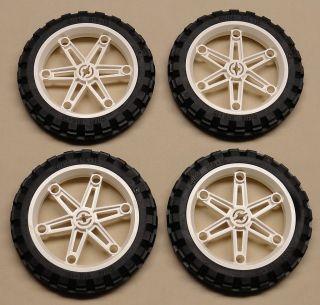 NEW x4 Lego Technic Wheels TIRES RIMS 81.6 x 15 Motorcycle Tires *X