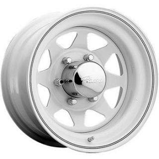 15x6 White Wheel Pacer White Spoke 5x4 5 Ford Rims