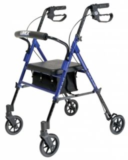 Set N Go Height Adjustable Rollator Rolling Walker 4 Wheels
