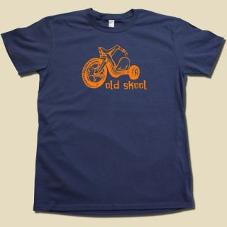 Old Skool Big Wheel T Shirt Retro 80s Old School Tee