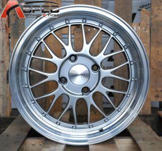 16x8 Varrstoen V4 4x100 25 Silver Wheel Fit BMW E30 318 325 Gold Jetta