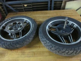 84 Honda Sabre VF700 Wheels Rims Rotors Brake Drum