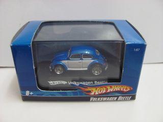 Hot Wheels 1 87 HO Scale Volkswagen Beetle Blue