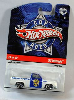 HOT WHEELS COP RODS POLICE DEPT NORTH OLMSTED 1983 83 CHEvY SILVERADO