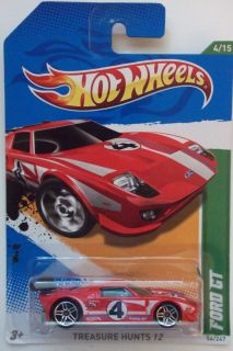 2012 Hot Wheels Treasure Hunts Ford GT 4 15 International Card