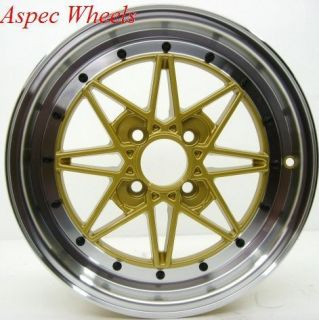 15x6 5 Rota SA Racing Wheels 4x100 Rims Fits 4 Lug Civic CRX Integra