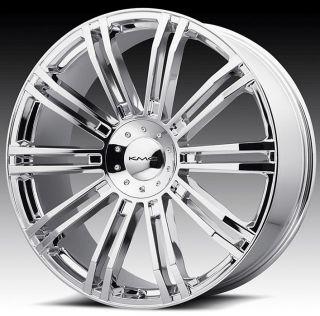 24 inch KMC Chrome Wheels Rims 5x4 5 5x114 3 Supra Camry Matrix