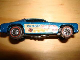 Vintage Hot Wheels Redline 1969 Tom McEwen Mongoose Blue Car RARE