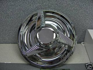 GM Chevy Rally Wheel Flat Cap Fluted Spinner Centers