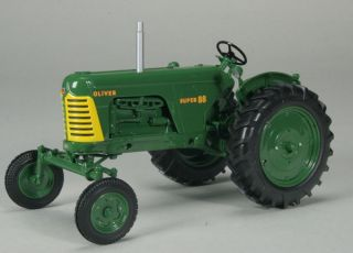 Oliver Super 88 Gas Wide Front Tractor Green Wheels Farm Toy Spec Cast