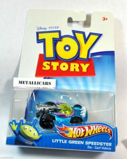 Hot Wheels Disney Pixar Toy Story Movie Little Green Alien Speedster