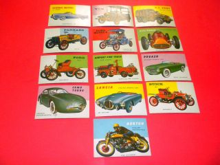 World on Wheels 13 Cards 7 87 Topps TCG 1953 Lot Cars Trucks and More