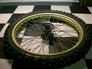 86 Yamaha YZ 490 YZ490 Front Wheel Rim Hub Dunlop Tire