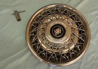 OEM 91 96 Roadmaster Chrome Hub Cap Rim Wire Wheel Cover Emblem LOCK