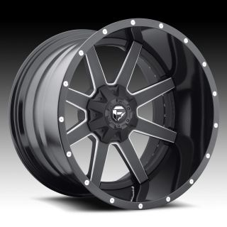 22 Fuel Offroad Maverick 2pc Wheel Set Black 22x12 Rims Ford Chevy