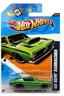 2012 Hot Wheels Muscle Mania Mopar 87 1968 Plymouth Hemi Barracuda