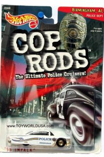 1999 Hot Wheels Cop Rods Birmingham Alabama 1959 Chevrolet Impala