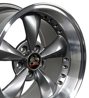 Anthracite Bullitt Wheels Bullet Rims Fit Mustang® GT 94 04