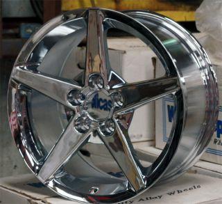 Chrome Corvette C6 Wheels 18x9 5 Camaro Rims 18 Inch