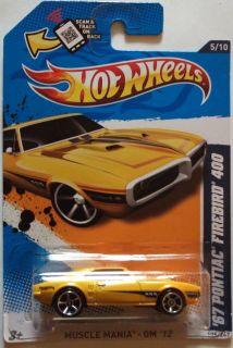 2012 Hot Wheels 67 Pontiac Firebird 400 Col 105 Dark Yellow Version