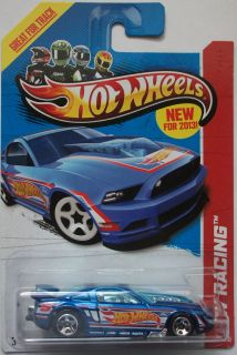 2013 Hot Wheels HW Racing 13 Ford Mustang GT 106 250 Blue Version