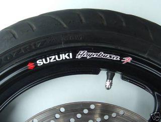 Suzuki Hayabusa Wheel Rim Stickers GSXR GSX1300R 1300